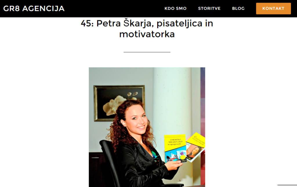 Petra Škarja, pisateljica in motivatorka